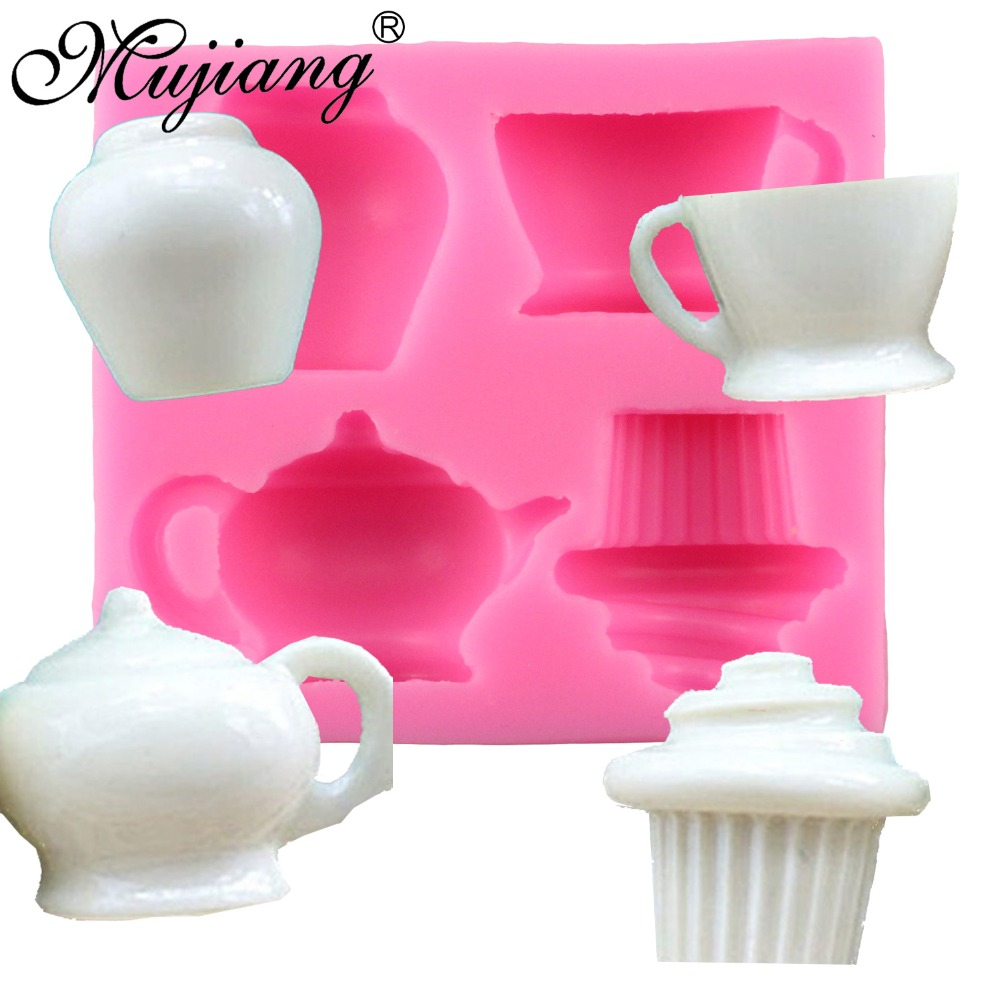 DIY Cup Cake Silicone Mold Birthday Wedding Party Fondant