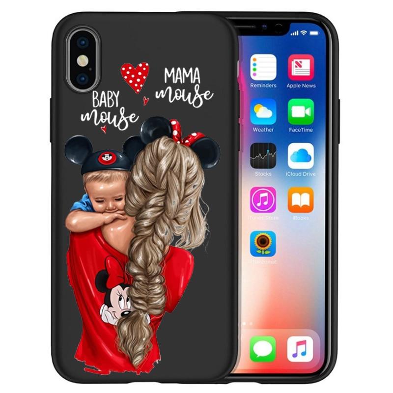 Чехол для iPhone X, модный, супер мама, девочка, для Iphone 5, 5S, 6, 6 S, 7, 8 Plus, X, XS, Max, XR, мягкий силиконовый чехол, Etui - Цвет: 03