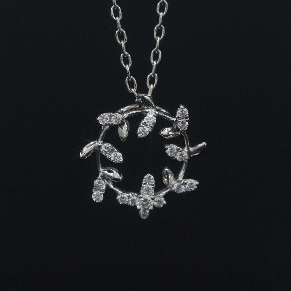 LASAMERO Halo 0.04CT or 18 k coupe ronde carré Center pavé ensemble naturel diamant pendentif collier chaîne femmes bijoux fins