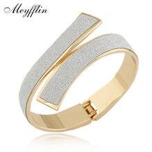 Манжетой золото/серебро pulseiras манжеты bijoux матовый браслеты браслет изделия ювелирные мода