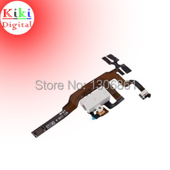Original Parts Headphone Audio Jack Volume Power Flex Cable for iPhone 4S Black and White free shipping