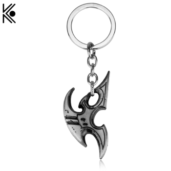 New Style Games Blizzard StarCraft 2 Protoss Logo Silver Metal Keychain Keyring For men porte clef chaveiro key holder5.5cm