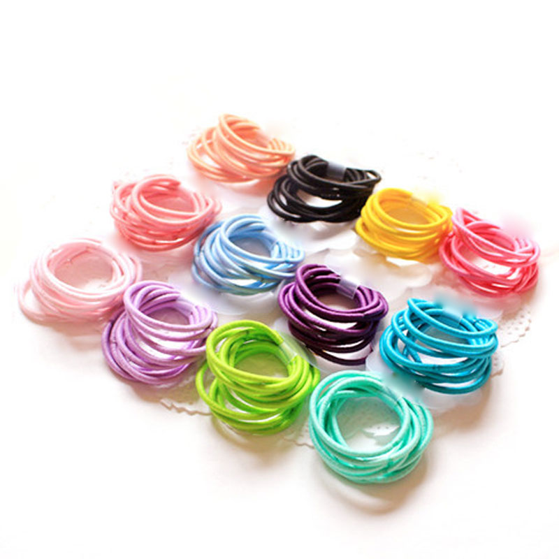 100Pcs/Lot Cute Candy Fluorescence Kids Girl Elastic Hair Bands Ponytail Holder Hair Rubber Band Rope Ties Gum Scrunchies покрывало наволочки 240х260 sofi de marko покрывало наволочки 240х260