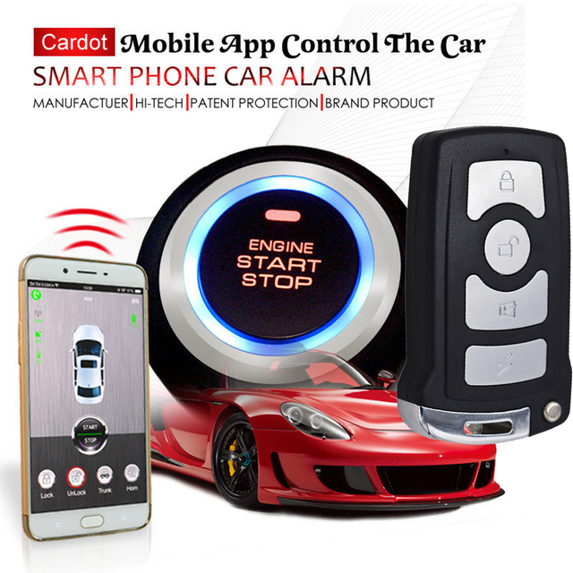 3G gsm smart key car alarm system with realtime online gps tracking ...