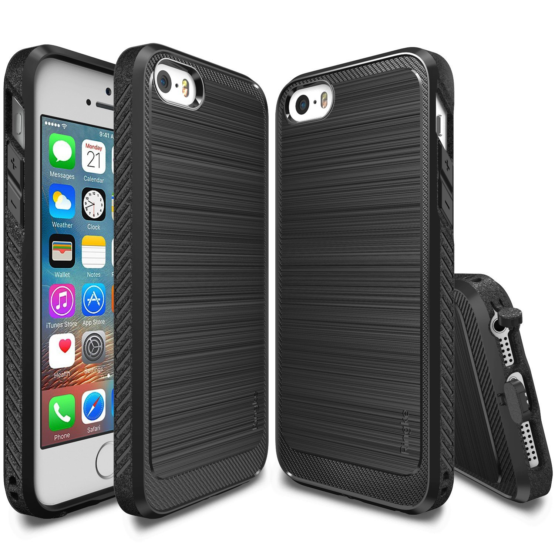 imágenes para Ringke 5S Ónix para iphone/iPhone 5/iPhone SÍ Prima Flexible de TPU Suave Antideslizante Defensiva casos