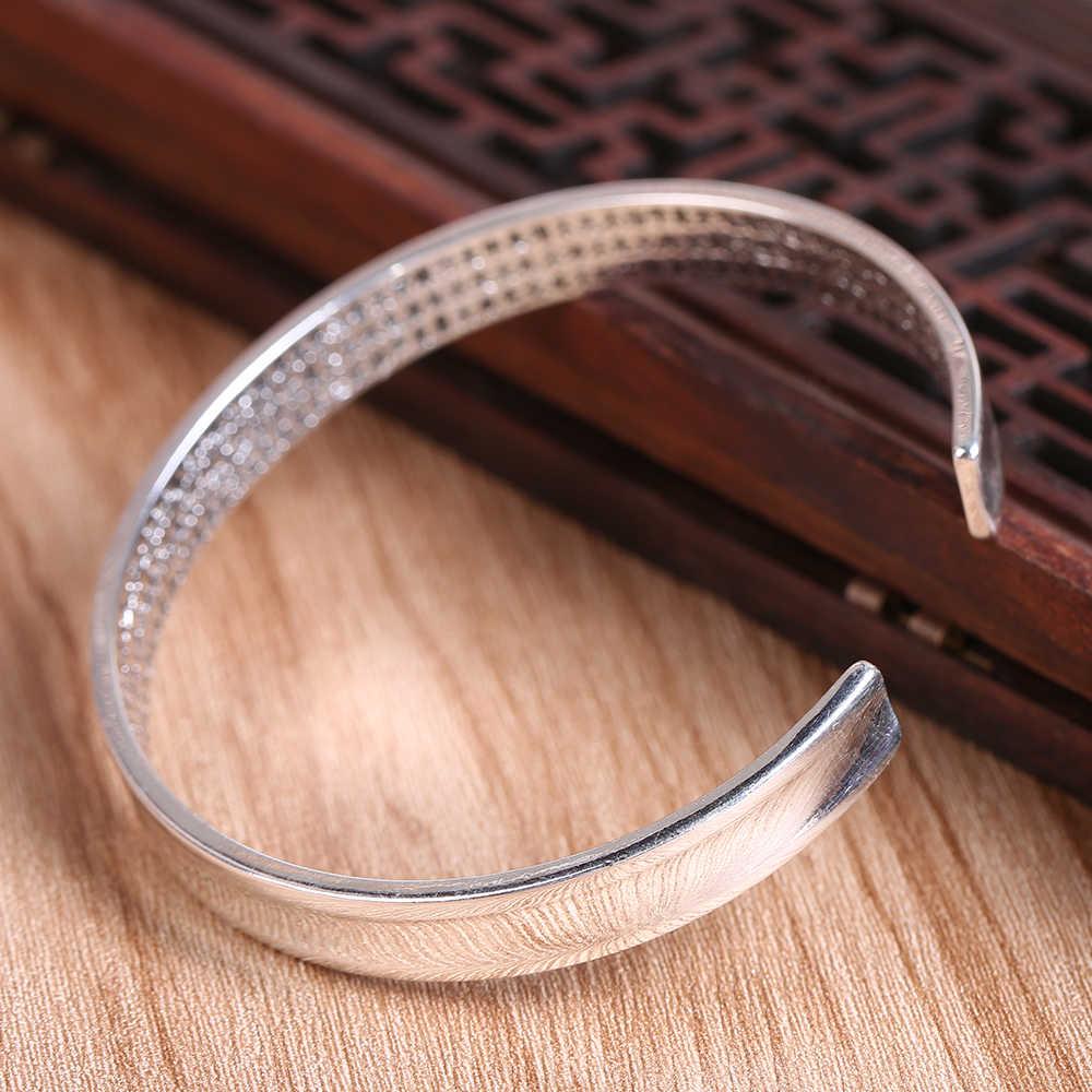 Pulsera y brazalete de plata tibetana tallada en el corazón de PRAJNA PARAMITA SUTRA para hombres y mujeres om mani padme hum joyería