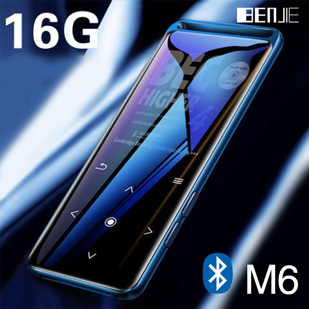 BENJIE M6 Bluetooth 5.0 Lossless MP3 Player 16GB HiFi Portable Audio Walkman With FM Radio EBook Voice Recorder MP3 Music Player