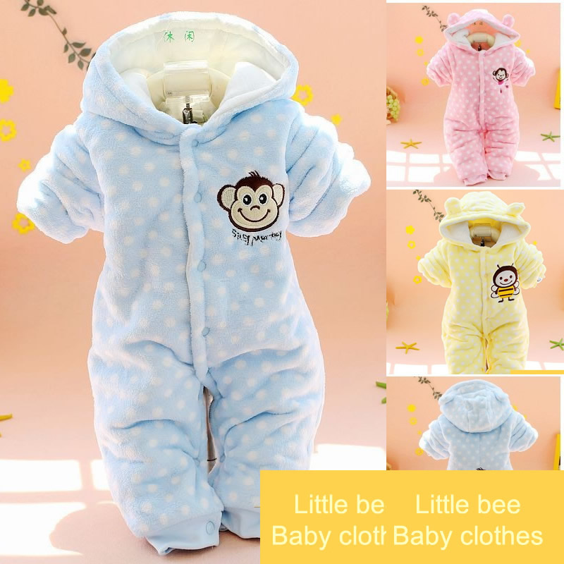 2016 New arrival Winter Baby Rompers Newborn One-Piece Baby Boy Girl Clothes Clothing Sets Kids Long Sleeve Infant Jumpsuit baby overalls long sleeve rompers clothing cotton dog anima 2017 new autumn winter newborn girl boy jumpsuit hat indoor clothes