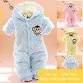 2016 Nova chegada Do Bebê Inverno Macacão Recém-Nascido de Uma Peça Do Bebê Da Menina do Menino Roupas Conjuntos de Roupas Infantis de Manga Longa Infantil macacão
