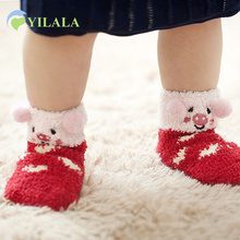 Cute Animal Baby Socks Cotton Soft Kids Short Socks Warm Anti Slip Floor Sock 2017 Children Accessories Baby Boys Clothing