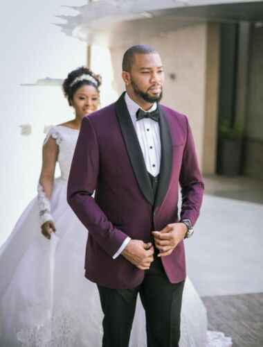 3 قطع (سترة + بنطلون + سترة) مخصص أحدث الرفوف الرجال العريس بدلة الزفاف اللباس الكلاسيكية زر واحد تصميم سهرة سترة