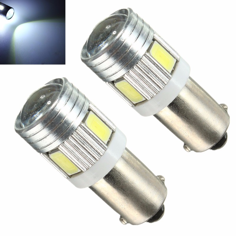 5730 5630 BA9S Car Light 120LM 1.2W 6 SMD Car Auto LED Interior Tail Light Side Wedge Light Bulb Lamp White 6000K-6500K DC12V зарядное устройство для аккумуляторов duracell cef14