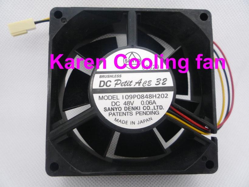 58168dab0 Sanyo 8 cm 109p0848h202 8032 48 v 0.06a ventilador de refrigeração