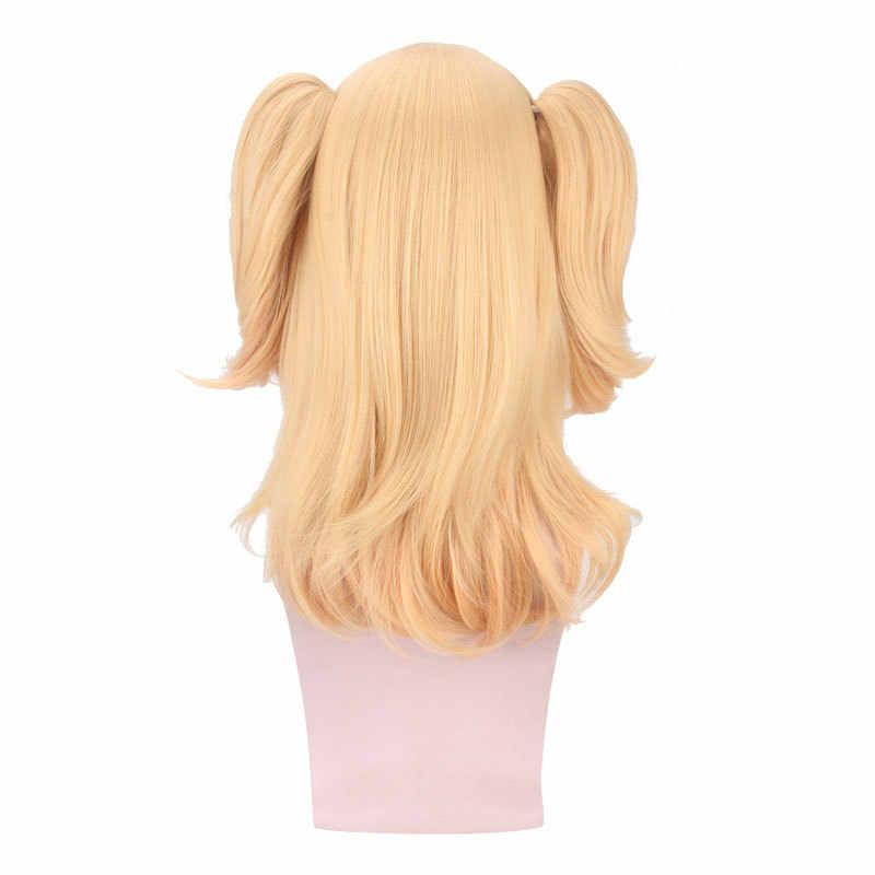 Tokyo Anime cítricos Aihara Yuzu cosplay peluca Aihara Yuzu amarillo cosplay del pelo Peluca de cola de caballo