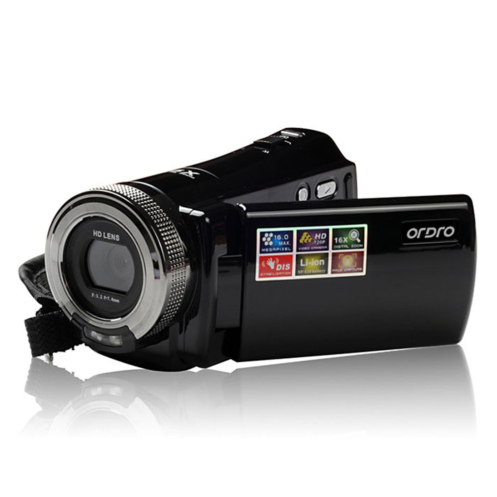 ordro dv 108 lcd 16mp hd digital video camera 16x zoom camcorder 720p dv in consumer. Black Bedroom Furniture Sets. Home Design Ideas