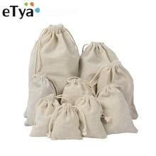 ETya ручная работа, Хлопковая Сумка на шнурке для мужчин и женщин, органайзер для путешествий, многоразовая сумка для покупок, женская сумка для хранения багажа