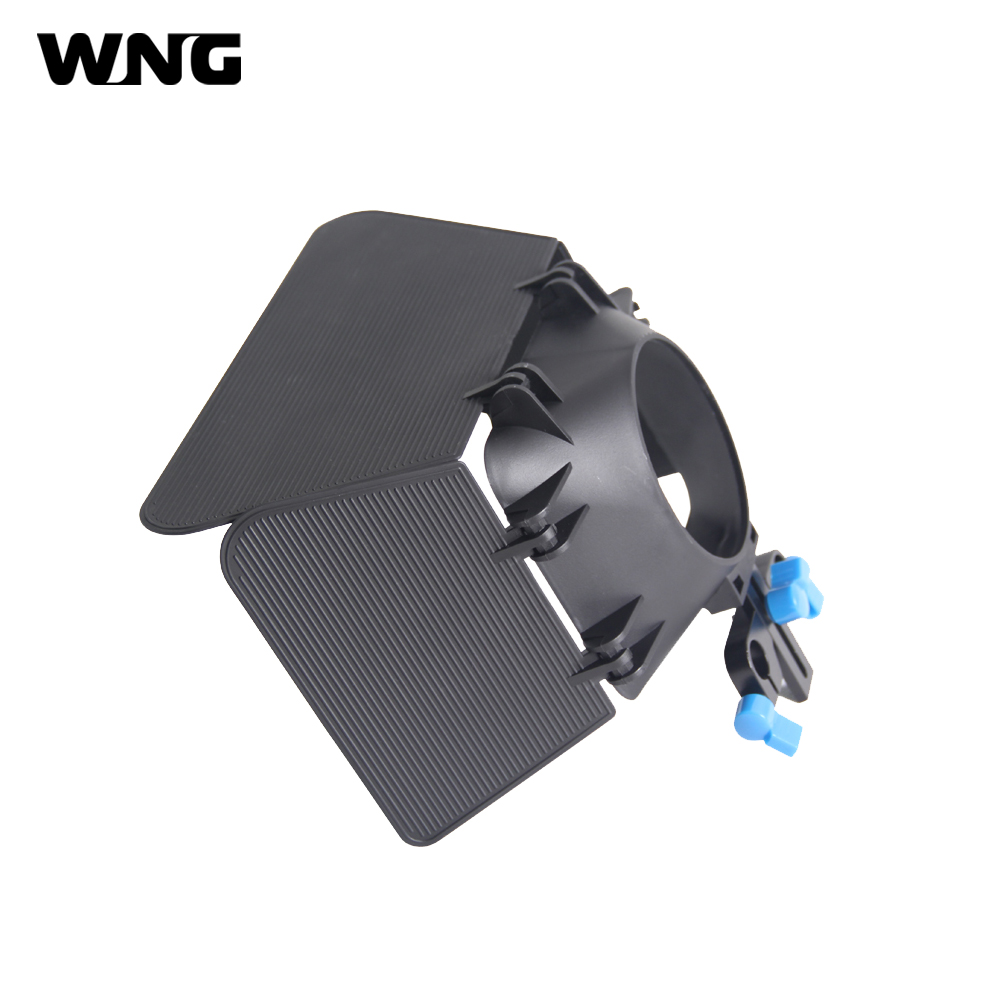 Professional Plastic DSLR Camera Matte Box With 15mm Rail Rod For Camera Camcorders
