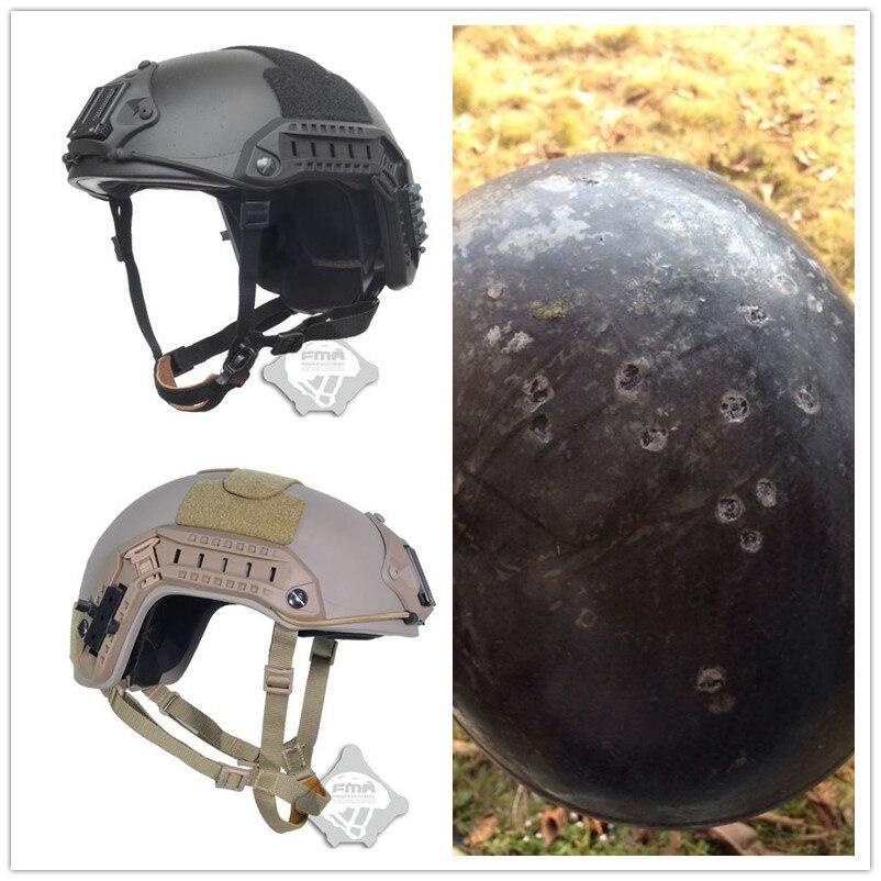 FMA maritime 1 1 aramid fiber version font b Helmet b font 9 mm Ballistic experiment