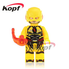 Single Sale Reverse-Flash Super Heroes Parademon Katana Booster Gold Bricks Action Building Blocks Children Toys Gift XH 744(China)