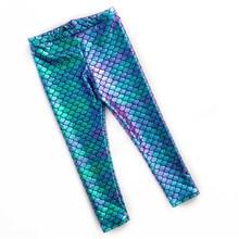 цена Brand New Hot Kid Baby Girls Pants Toddler Mermaid Fish-Scale Leggings Pant Stretchy Pencil Pants онлайн в 2017 году