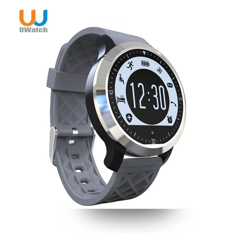 imágenes para F69 UWatch Impermeable Reloj Inteligente Pulsómetro Gimnasio Rastreador Bluetooth reloj Inteligente para Android Usable Reloj