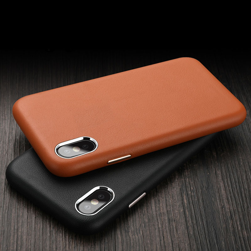 Genuine Leather phone case For iphone 6 6s 7 8 plus X XS XR XS MAX cover durable 7plus 8plus case