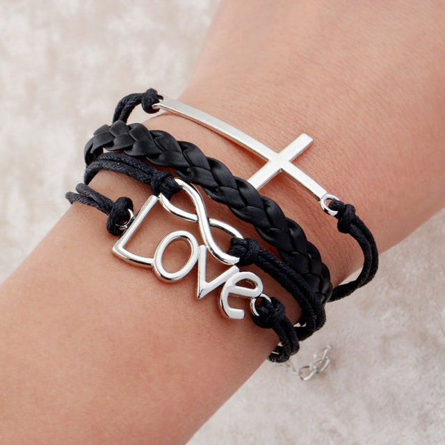 Beautiful Leather Bracelet For Men Believe Hope Bracelets Create Wrap Fashion Hy Tree
