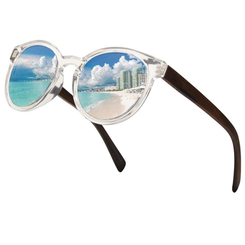 Ablibi Mirrored Wood Glasses for Men Women's Polarized Sunglasses 100%uv Round Sunglasses Wood Shade in Box  lentes de