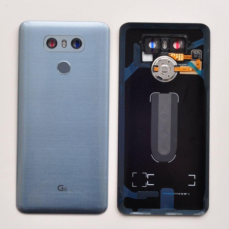ZUCZUG Glass Battery Cover With Fingerprint Sensor+Camera Lens Rear Housing For LG G6 Repair PartZUCZUG Glass Battery Cover With Fingerprint Sensor+Camera Lens Rear Housing For LG G6 Repair Part