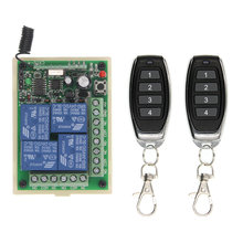 цена на DC 12V 24V 10A Relay 4CH 4 CH Wireless RF Remote Control Switch Transmitter+ Receiver 315 / 433 MHz Controller Popular
