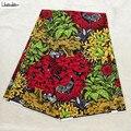 Cera africano Tecido de Algodão Cera Flor de Alta Qualidade de Impressão em cores Para Costura 6 3 metros Ancara Tecido 100% Algodão f96-13