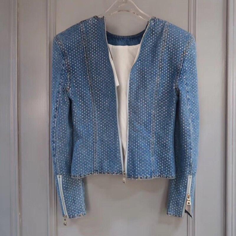 Avec Poche Manches Manteau 2019 À Lady Zipper Nouveau De Mode Femmes Solide Décontracté Veste Pour Longues YbED2IeWH9