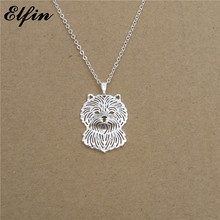 Elfin 2017 Trendy Cairn Terrier Necklace Gold Color Silver Color Dog Jewellery Pendant Necklace Women steampunk