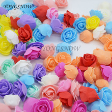 50Pcs/lot 3.5cm Multicolor PE Foam Rose Artificial Flowers For Wedding Box Handmade Decoration Home DIY Wreath Supplies 8Z