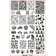 1Sheet 9.5*14.5cm Rectangle Nail Stamping Plates Template ANIMAL FLOWER Design Manicure Nail Art Stamp Image Plate Set KADOU-D03 ocean theme nail stamping plate stencils animal nail stamp template big size image plates manicure diy nail art design