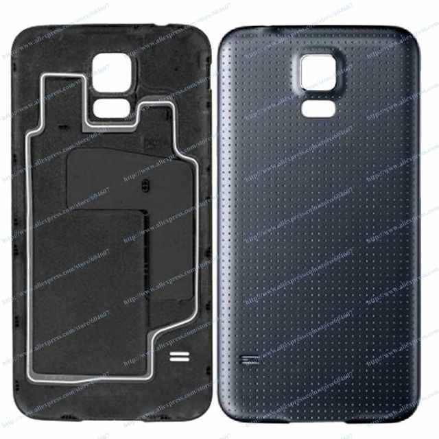 New OEM Black Back Cover Battery Door For Samsung Galaxy S5 I9600 GT-I9600 SM-G900F G900A G900M G900I G900T Phone
