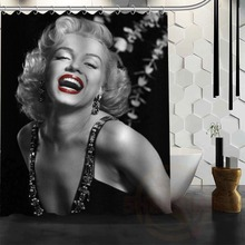 Printing with beautiful white long dress Marilyn Monroe Anti-mildew and Anti-water Shower Curtain hot selling bathroom Curtains