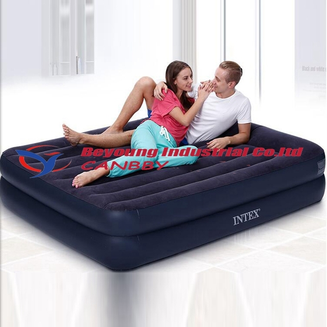 Intex Queen Size Airbed Inflatable Air Bed With Built In Electric Pump And  Pillow