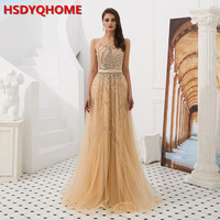 HSDYQHOME Women Evening Dress Elegant Magic High End Sequin 2019 Manual Colorful Bead Crysatl Stripe Pattern Fairy Dress