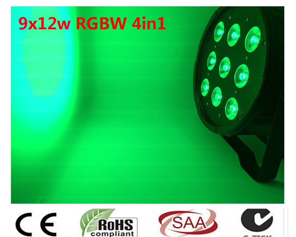 9x12 W RGBW 4IN1 led par 54 Controlador de Luz DMX Del Disco de DJ LED Par RGBW Wash Envio Gratis 2pcs dj disco par led 54x3w stage light dmx strobe flat luces discoteca party lights laser rgbw luz de projector lumiere control