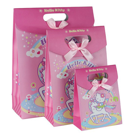 1241636cm Cartoon Cat Birthday Gift Bag Ideas Premiums Children Favors