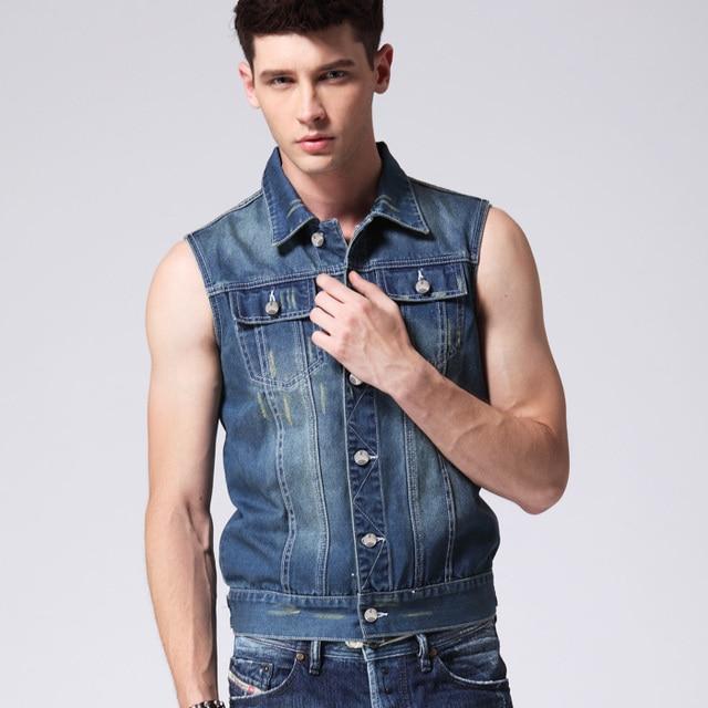 8fa3bedee3641 Free shipping 2015 summer new fashion Men s Cowboy Waistcoat