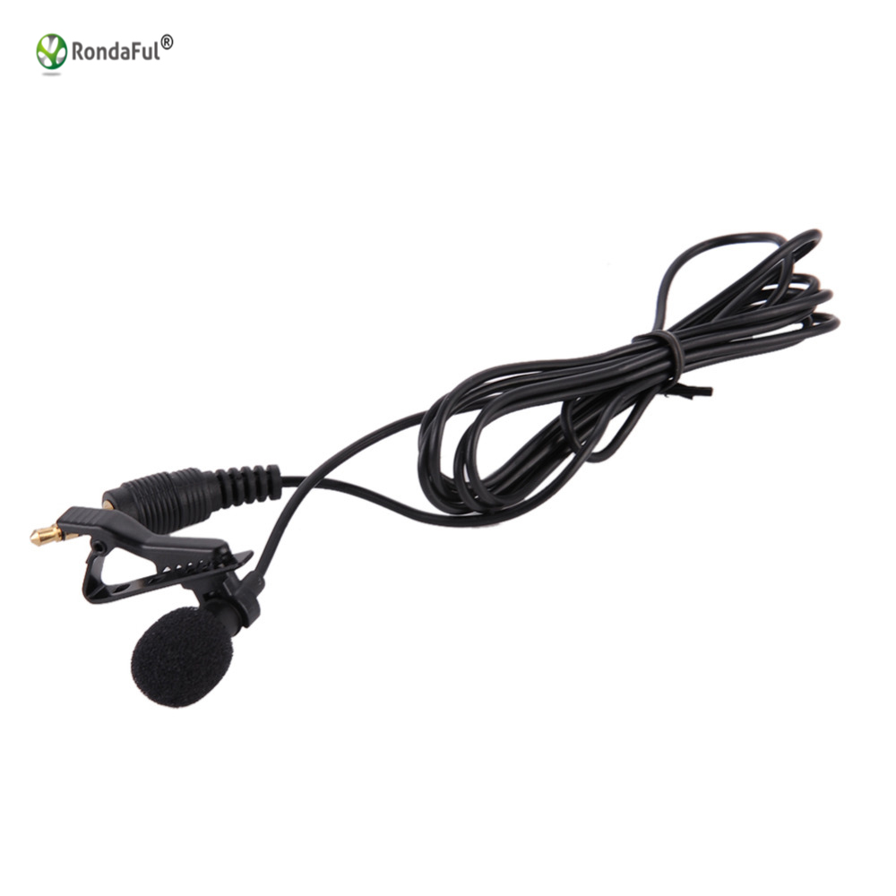 Clip On Lapel Lavalier Microphone 35mm Jack Hands Free Mini Wired Wiring Phone Condenser For Iphone Samsung Smartphone In Microphones From Consumer