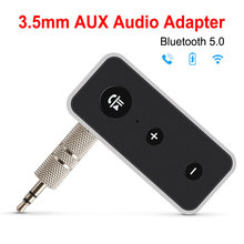 цена на Bluetooth 5.0 Adapter Audio Receiver Bluetooth Adapter Speaker Audio Receiver For Car Stereo Wireless Aux 3.5mm Jack Receiver