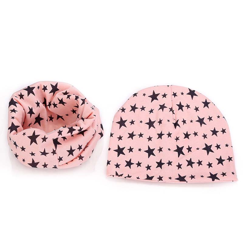 New Spring Autumn Baby Girl hat scarf set Cartoon Owl Stars Swan baby hat  Children Hat Scarf Collar set Cotton Baby Hat Set 1 5T-in Hats   Caps from  Mother ... f8304e951272