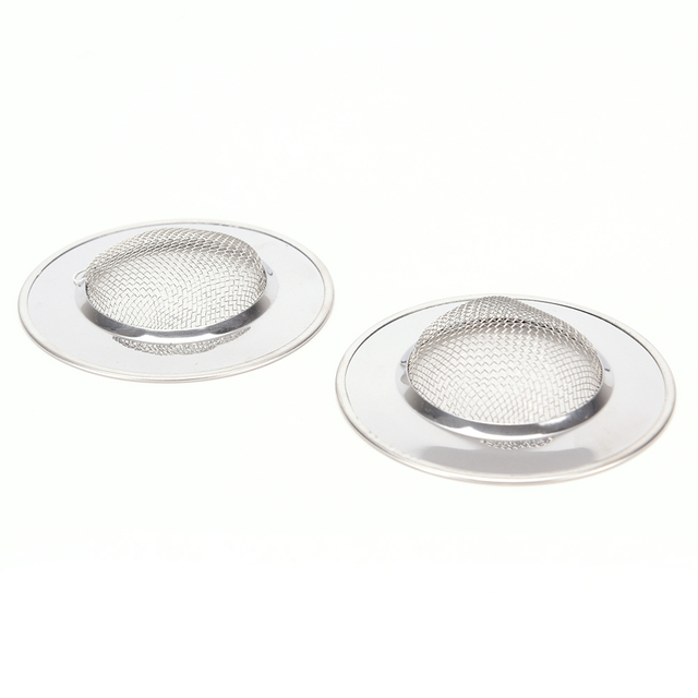 Hot Sale 1PC Kitchen Sewer Filter Stainless Steel Bathtub Hair Catcher  Stopper Shower Drain Hole Filter