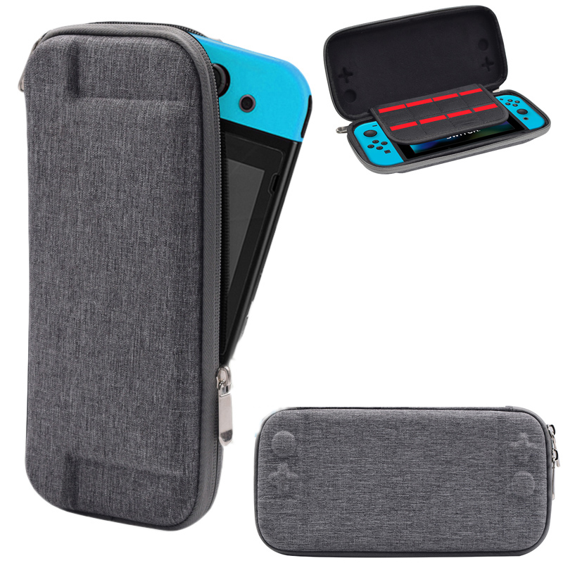 лучшая цена Nintend Switch Hard Bag Shell Storage Travel Carry Pouch Case for Nintendos Switch NS Console Protective Gray Bags Pack Holder