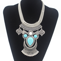 New Big Fashion Exaggerated Style Multi Ethnic Women S Silver Plated Chain Necklace Evening Dress Jewelry