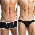 Zod trunk sexy low-waist panties male stripe briefs male bag breathable modal briefs 2PCE underwear men shorts brand