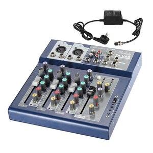 Image 5 - Muslady F4 Professionele 4 Kanaals Digitale Mic Lijn Audio Sound Mixer Mixing Console met USB Ingang 48 V Phantom power